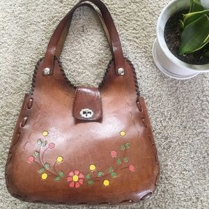 Rare Vintage Tooled Leather Purse